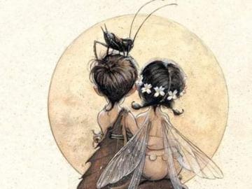 elves children mushrooms grasshopper - elves children mushrooms grasshopper