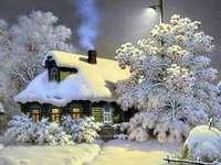 Ένας υπέροχος χειμώνας. - Παζλ. Τοπίο. Χειμώνας.