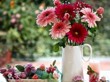 fleurs de vase colorées - fleurs de vase colorées