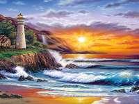 Ηλιοβασίλεμα στη θάλασσα. - Ηλιοβασίλεμα στη θάλασσα.