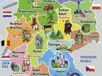 Deutschland - Carte de l'Allemagne