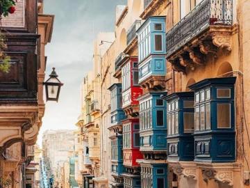 Valletta, Malta - Valletta, Malta urocza Malta zachwyca