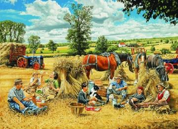 Painting. - Painting. Rural landscape