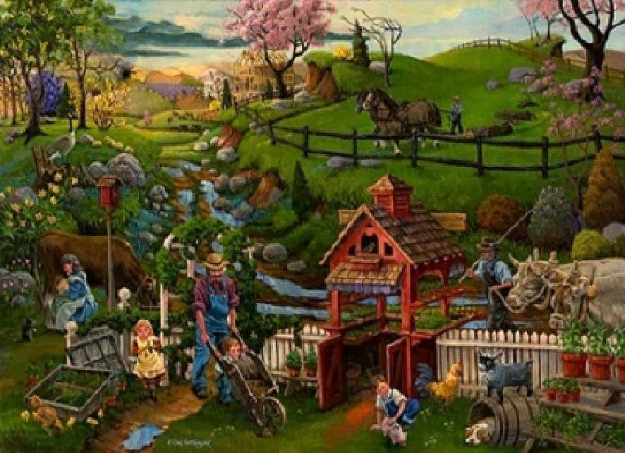 Земеделска картина. пъзел