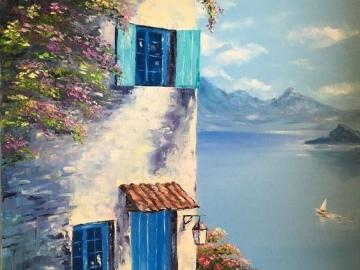 An amazing talent - A seaside town on canvas