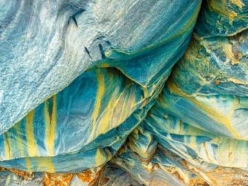 Marmorhöhlen in Chile - Marmorhöhlen in Chile. Marmorhöhlen in Chile - ein Komplex von Höhlen in Chile am Gletschersee Ge