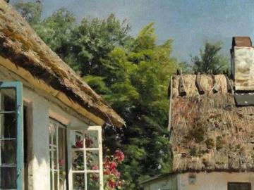 foto dal villaggio - quadro idilliaco della realtà rurale