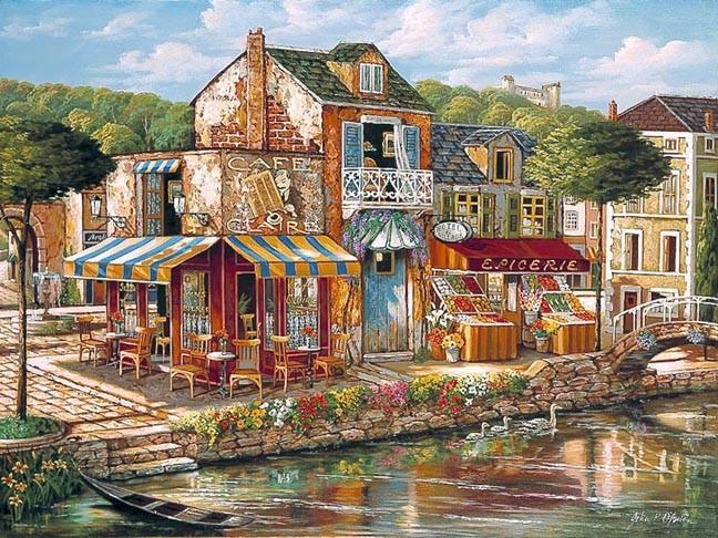 Ζωγραφική - Ζωγραφική τοπίου. Ζωγραφική. Αστικό τοπίο (10×10)