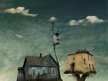 Houses on trees - Two houses with fancy architecture