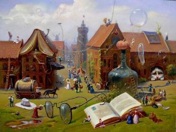 Difficult puzzles. - Puzzle. Urban landscape.