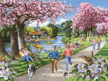 Pink Spring - Landscape. Pink Spring