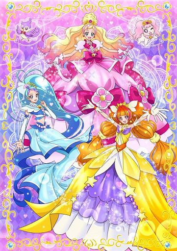 Partire! Principessa 光 之 美 少女 - 第一 優雅 模式: 將 「變身 裝扮 鑰匙」 插入 「公主 香水」 中, 解放 力量 �
