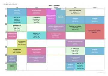 Timetable - college student timetable