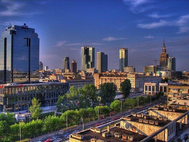 Varșovia - Vedere spre centrul Varșoviei care trebuie amenajată (6×6)