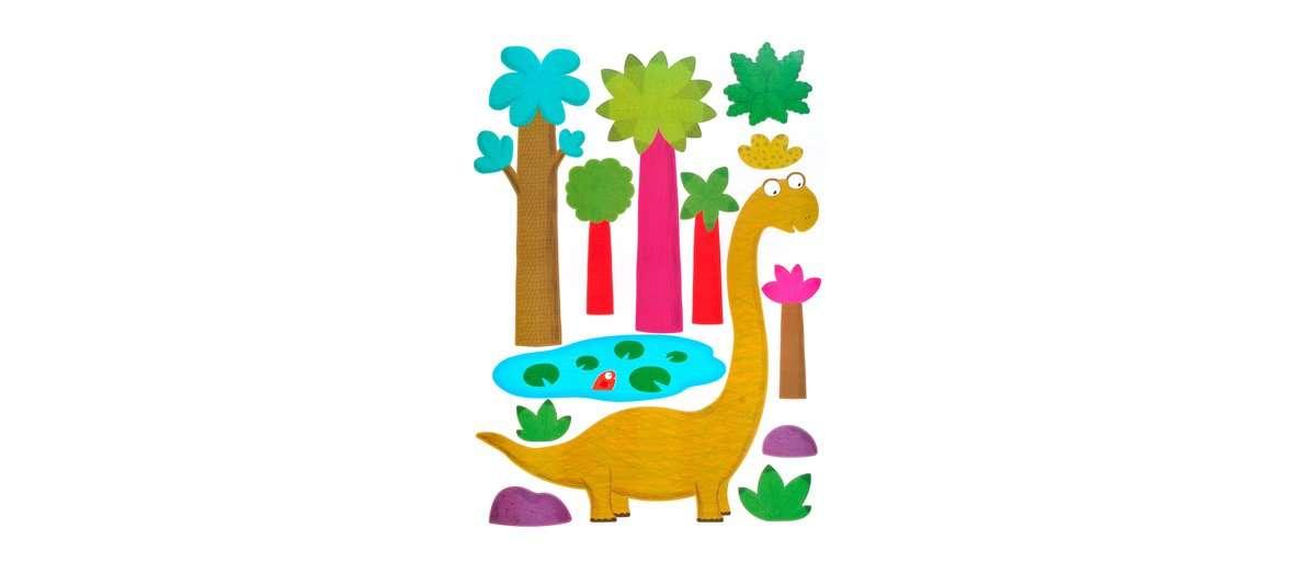 Ein bunter Dinosaurier