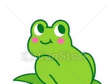 Une petite grenouille verte douce - Cette photo montre une petite grenouille verte douce.