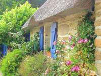 Cottage house. - Country house with garden.