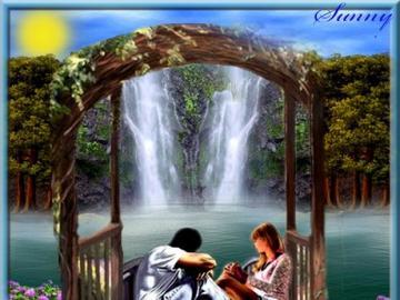 Un appuntamento romantico - Ragazzo e ragazza che ammirano il paesaggio di sera