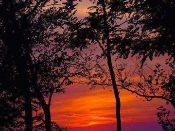 tramonto - Un bellissimo tramonto sul lago