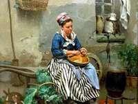 Eine Frau bei der Arbeit
