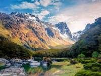 Puzzel landschappen en reizen - Landschap van Nieuw-Zeeland