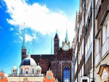 Piękne miasto latem - Puzzle krajobrazy, miasto latem
