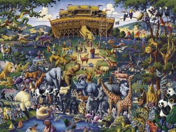 Zwierzątka na łące - Puzzle zwierzęta, zwierzątka na łące