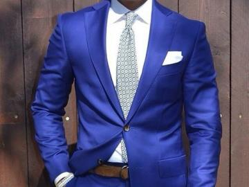 boy dressed in blue - this is really a boy dressed in blue