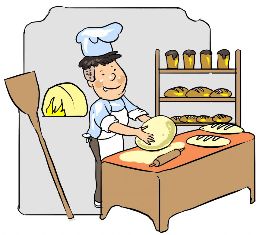 piekarz - piekarz robi chleby.