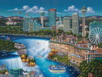 Niagara Falls. - Rompecabezas de paisaje.