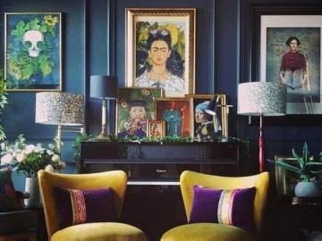 Sala de estar en colores oscuros - Sala de estar diseñada en colores oscuros.