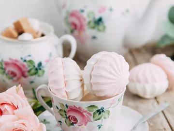 Taza de galletas con rosas - Taza de galletas con rosas