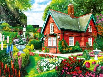 Red brick house. - Red brick house.