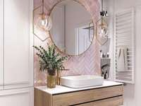 Badezimmer für eine Frau