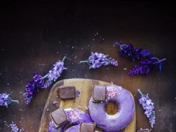 Pączek oponka - Fioletowe pączki, pączki oponki