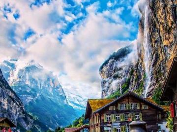 Valle delle cascate, Svizzera - Swiss Valley of the Waterfalls, Lauterbrunnen
