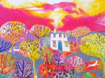 Kolorowy obraz - Kolorowe malarstwo, puzzle sztuka