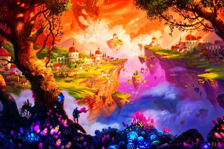 Fantastische wereld - We hebben puzzels samengesteld die de fantasiewereld vertegenwoordigen, (15×10)
