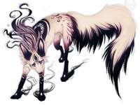 zwarte en roze wolf