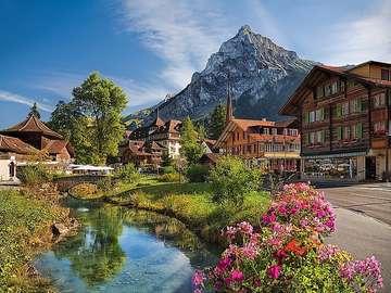Алпийски пейзаж. - Пейзаж пъзел.