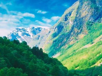 Kolorowa Norwegia - Kolorowy krajobraz z Norwegii