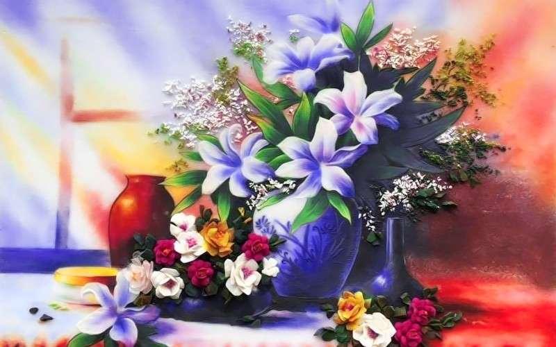 Flori purpurii - Aranjăm flori purpurii (8×5)