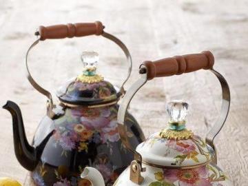Two flower teapots - Two flower teapots