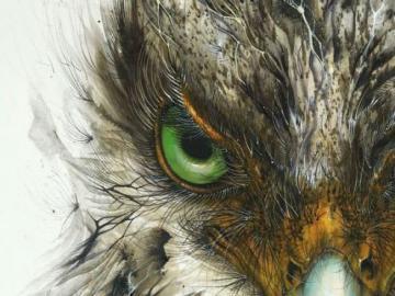 Un bel oiseau - Art contemporain, oiseau