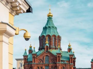 Église cathédrale à Helsinki, Finlande - Église cathédrale d'Helsinki, Finlande, la cathédrale Uspensky