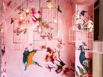 Art mural - Chambre rose, art mural
