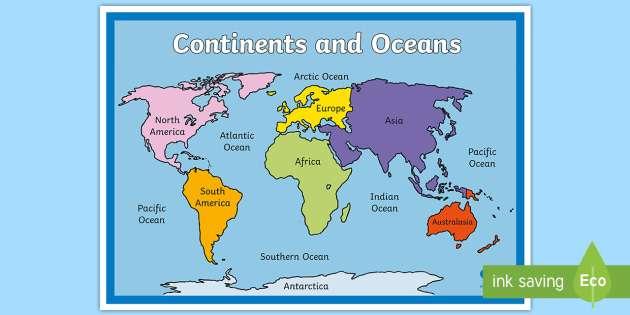 континенти - континенти и океани (5×5)