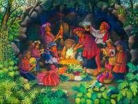 Ceremonias mayas - curso cuarto tablero de rompecabezas para juntar