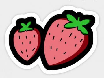 fraise - Fraise Fraise - hybride de deux espèces de fraises des bois de la famille des Rosacées. Il a de no