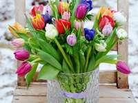 Tulipas de flores de Páscoa